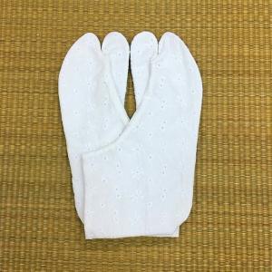 文楽足袋 レース足袋 No.1 花柄(アマリリス) ほっそり型 21.5cm〜25.0cm tabinotane