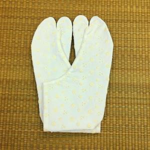 文楽足袋 レース足袋 No.2 花柄(たんぽぽ) ほっそり型 21.5cm〜25.0cm tabinotane