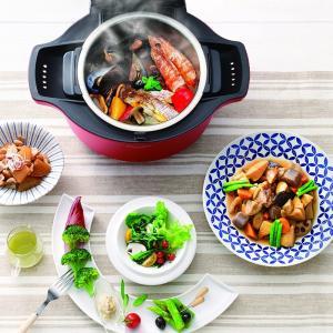 シャープ 自動調理 鍋 ヘルシオ ホットクック 1.6L 無水鍋レッド KN-HT99A-R|tabito-haruru-store