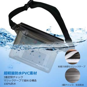 防水ポーチ 完全防水 防水バッグ 防水ケース スマホ 防水財布バッグス 小物入れ 3重チャック PVC素材 海水浴 プール 温泉 釣り 潜水|tabito-haruru-store