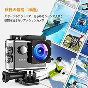 APEMAN A66 アクションカメラ スポーツカメラ 30メートル防水 170度広角レンズ フルH...