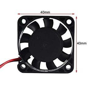 Pinbotronix 4個 DCミニ静かな冷却ファン 3Dプリンタファン DVRおよびその他の小型家電シリーズ修理の交換用 28cmケーブ|tabito-haruru-store