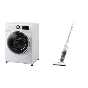セット販売アイリスオーヤマ ドラム式洗濯機 温水洗浄機能付き 左開き 幅595mm 奥行672mm ...