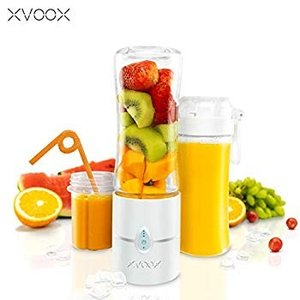 XVOOX ジューサー 充電式 コードレス 保護機能付き 操作簡単 スムージー ダイエット 人気 ミルクセーキ 離乳食 介護食 果物 野菜|tabito-haruru-store