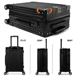 クロース(Kroeus) スーツケース ファスナータイプ 4輪ダブルキャスター 静音 大型 大容量 ...