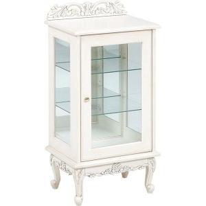 ガラスキャビネット アンティーク調 50cm幅 猫脚 高級感 コレクション table-lukit