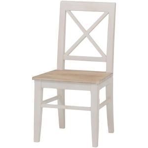 シャビー チェア 白 桐 バイカラー アンティーク調 チェアー table-lukit
