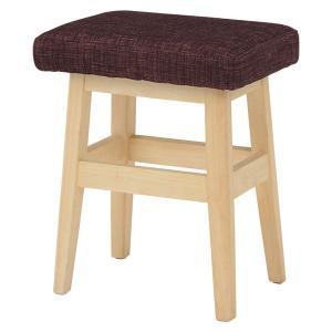 スツール 木製 高さ45cm 〔ナチュラル×ブラウン〕 北欧風 腰掛け椅子 座面/ファブリック 〔完成品〕|table-lukit