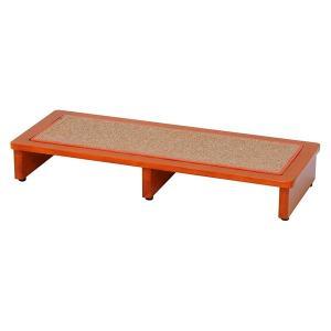 玄関踏み台 90cm幅 木製 玄関台 ステップ アジャスター付き 〔マット付き〕|table-lukit
