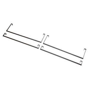 ハンガーポール4本組(ダークブラウン) KH-3926P-DBR|table-lukit