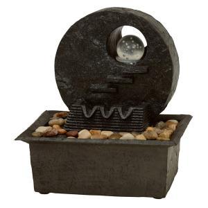 ミニ噴水/ファウンテン 〔循環型〕 LEDライト付き LFS-4386 〔インテリア用品/屋外/ガーデニング用品〕|table-lukit
