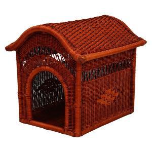 籐製ペットハウス 幅45cm×奥行54cm×高さ49cm RPH-1313 〔ペット用品 犬用品 猫用品〕|table-lukit