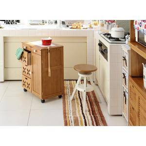 回転スツール 木製 丸椅子 アンティーク調 回転イス 昇降式 〔高さ45〜60cm〕|table-lukit