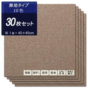 タイルカーペット 40×40cm 30枚 防音・防ダニ・防炎・静電気抑制加工・床暖房対応