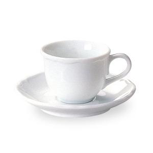 エンブレム エスプレッソ カップ&ソーサー 白い食器 cafe カフェ 食器 業務用 日本製 tablewareshop