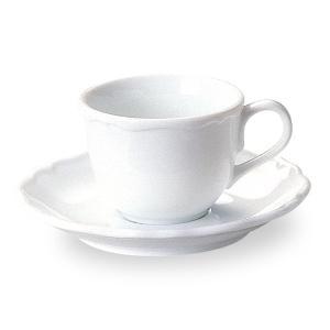 エンブレム コーヒー カップ&ソーサー 白い食器 cafe カフェ 食器 業務用 日本製 tablewareshop