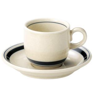 インディゴボーダー コーヒーカップ&ソーサー(165cc) カントリー cafe カフェ 食器 業務用 日本製 tablewareshop