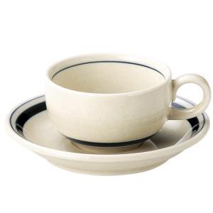 インディゴボーダー ティーカップ&ソーサー(185cc) カントリー cafe カフェ 食器 業務用 日本製 tablewareshop