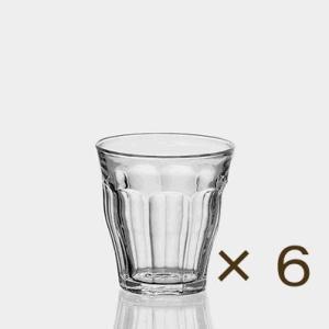 デュラレックス ピカルディー220ml 6個セット DURALEX カフェ 業務用 ガラス 食器 コップ グラス|tablewareshop