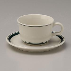 カントリーサイド・モスグリーン ティーカップ&ソーサー カントリー cafe カフェ 食器 業務用 日本製 tablewareshop