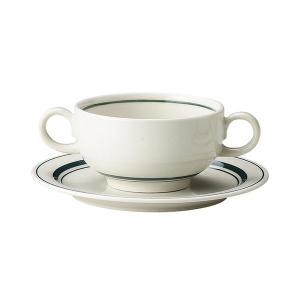 スノートングリーン ブイヨン碗&パン皿 カントリー cafe カフェ 食器 業務用 日本製|tablewareshop