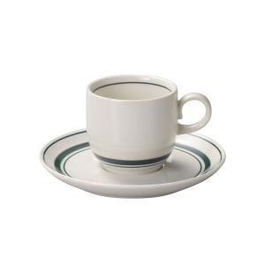 スノートングリーン コーヒーカップ&ソーサー カントリー cafe カフェ 食器 業務用 日本製|tablewareshop
