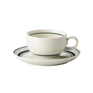 スノートングリーン 紅茶カップ&ソーサー カントリー cafe カフェ 食器 業務用 日本製|tablewareshop