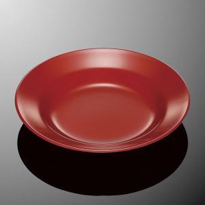 ラーメン丼受皿 朱 (8吋スープ皿)業務用 メラミン 樹脂 中華 ラーメン 敷皿|tablewareshop