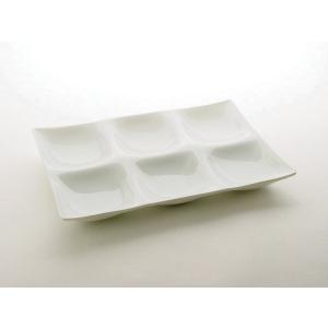 コワケ(kowake) 6つ仕切り皿 深山 miyama白い食器 こわけ ビュッフェ バイキング 日本製|tablewareshop