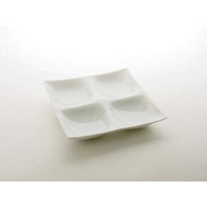 コワケ(kowake) 4つ仕切り皿 深山 miyama白い食器 こわけ オードブル カフェ 食器 おつまみ 皿 日本製|tablewareshop