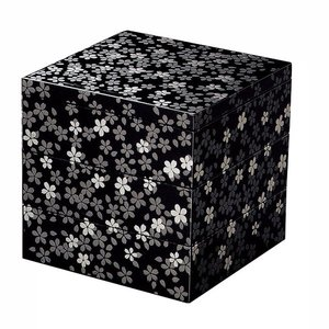 桜美三段重(黒)12cm|tablewareshop