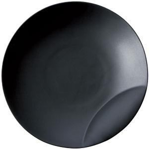 十六夜 [izayoi] 皿L 黒マット 小田陶器|tablewareshop