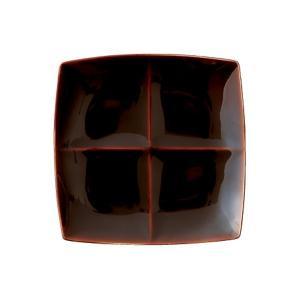 フリート freeto 4プレート アメ釉 小田陶器|tablewareshop