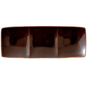 フリート freeto 3プレート アメ釉 小田陶器|tablewareshop