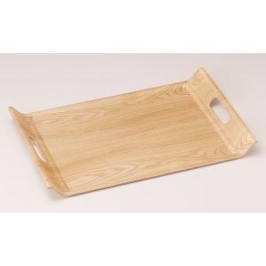 ウッドトレー:ウィローウッド51cmアール手付きトレー|tablewareshop