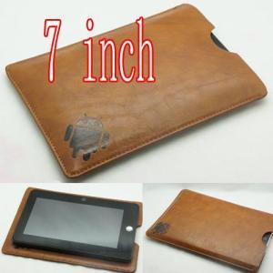 (メール便対応)7インチレザーカバーケース ブラウン タブレット付属品 アクセサリー|tabtab