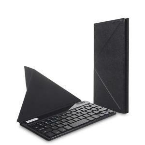 (メール便対応)7〜8.1インチ対応 スタンドにもなるケース付きBluetoothキーボード ブラック|tabtab