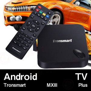 【AndroidTV】Tronsmart MXIII Plus (2G/8G+2.4Ghz/5Ghz) Quad Core Android TV BOX ブラック|tabtab