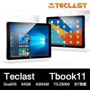 【10.6インチ 10.6型】Teclast Tbook11 DualOS 64GB 4GRAM 10.6インチ T3-Z8300 BT搭載【タブレット PC 本体】|tabtab