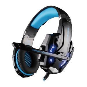 ゲーミングヘッドセット KOTION EACH G9000 ヘッドホン 3.5mm コネクタ マイク LEDライト付き 【ヘッドアーム PS4 スマートホン パソコン タブレット】 tabtab