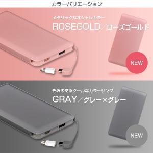 モバイルバッテリー 新型モデル 大容量 iPhone アンドロイド対応 軽量 薄型 10000mAh コード付き2台同時充電可能 送料無料 2A急速充電 セール tabtab 14