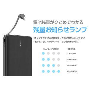 モバイルバッテリー 新型モデル 大容量 iPhone アンドロイド対応 軽量 薄型 10000mAh コード付き2台同時充電可能 送料無料 2A急速充電 セール tabtab 07