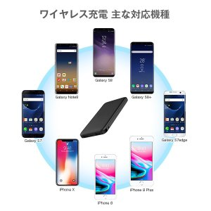 Qiワイヤレス充電対応 大容量モバイルバッテリー 3台同時 10000mAh スマホ iPhone8 タブレットPC ALPHA LING x-01【iphone8 iPhoneX アイコス iqos】 tabtab 11