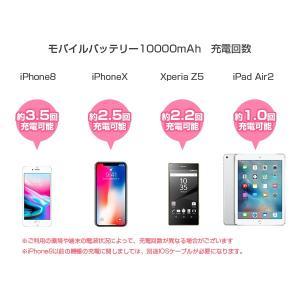 Qiワイヤレス充電対応 大容量モバイルバッテリー 3台同時 10000mAh スマホ iPhone8 タブレットPC ALPHA LING x-01【iphone8 iPhoneX アイコス iqos】 tabtab 03
