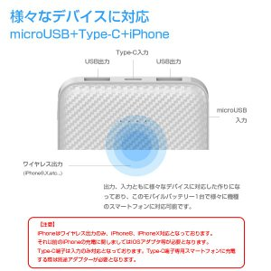Qiワイヤレス充電対応 大容量モバイルバッテリー 3台同時 10000mAh スマホ iPhone8 タブレットPC ALPHA LING x-01【iphone8 iPhoneX アイコス iqos】 tabtab 07