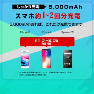 【送料無料】NEWモデル ALPHA LING SLIM 5000mAh モバイルバッテリー 充電器 3台同時充電可能 スマホ iPhone|tabtab|09