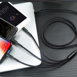 激安 3in1充電ケーブル iPhone Type-C MicroUSB 急速充電 モバイルバッテリー【送料無料】|tabtab|11