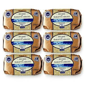 バター 無塩 発酵バター イズニーAOP 250g×6個セット フランス産 ノルマンディ トリベオウ トリブウー