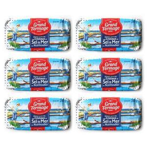 セル・ドゥ・メール グランフェルマージュ 海塩入り有塩バター 250g x6個フレッシュバター