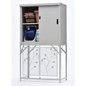 物置 屋外 グリーンライフ 収納庫HS−92+エアコン室外機カバーAC-78MMセット スチール物置 小型|tac-online
